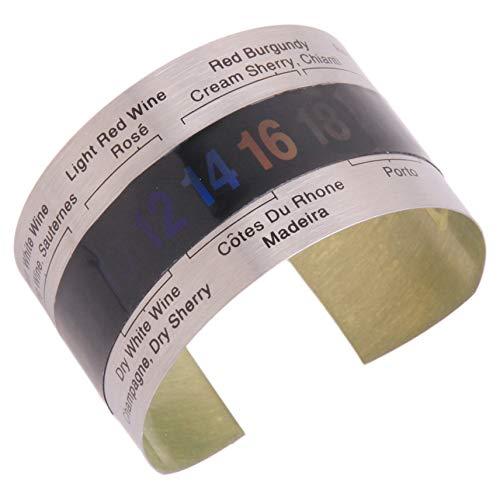 GGQT Weinflaschentemperaturthermometer Weintemperatur Armband Sensor Edelstahl