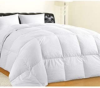 Allrange Clean & Safe Feather and Down Comforter Duvet, Down Proof Cotton Fabric, Medium Warmth, Year Round, Machine Washable, Easy Care, Durable,Twin Size