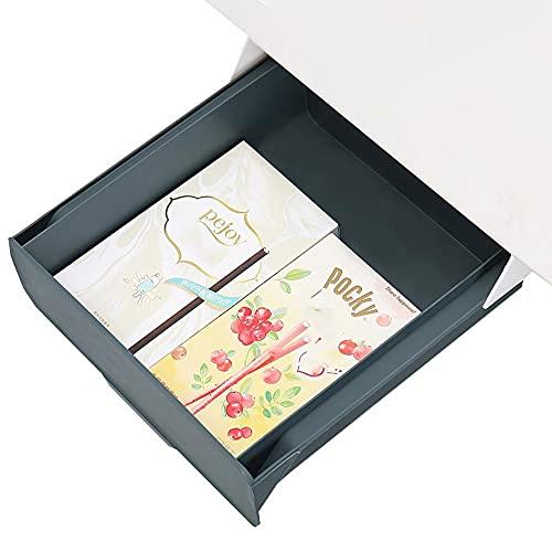 Debajo Del Cajon Del Escritorio Verde Cajon Oculto Adhesivo - 22.5x23.5x10cm - Bandeja Escritorio Oculta para Lápiz, Borrador, Bolígrafo, Tijeras, Llave, Monitor