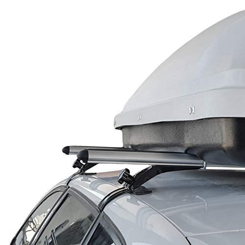 para Hyundai Accent Era 2006-2011 Barras de Techo Portaequipajes Aluminio Gris