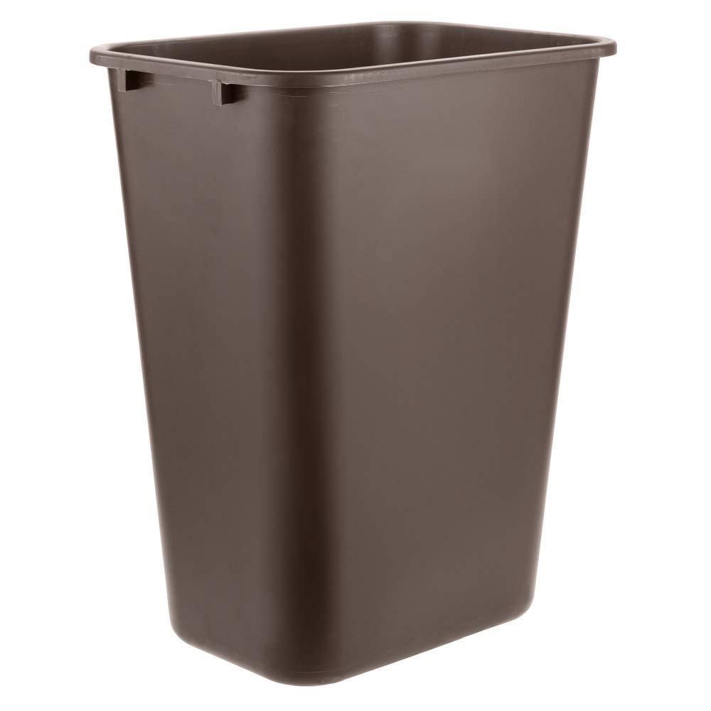 5 Pack 41 Qt. 10 Gallon Tampa Mall Liters 38 Rectangular Brown Wasteba outlet