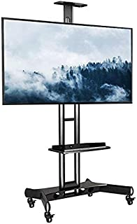 Rife Mobile TV Trolley Stand with Mount for LED LCD Plasma Flat Panel Screens and Displays 32'' to 65 inch (Heavy Duty TV ...