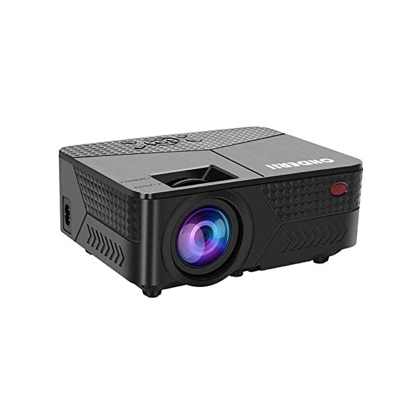 OHDERII Mini Projector,1080p 120 Inch Display Supported,Compatible with HDMI,VGA,USB,SD...