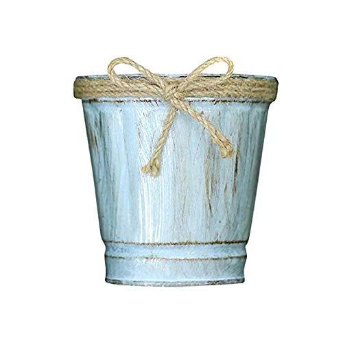 KEATTL Pot De Fleur, Hangable Rétro Métal Seau En Fer En Plein Air Balcon Jardin Plante Décoration Pot De Fleur (Multicolore)