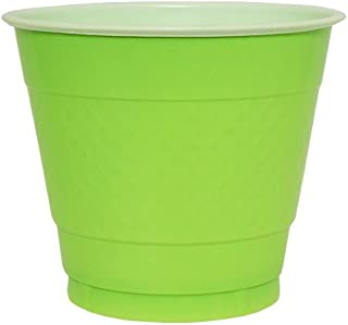 Hanna K. Signature Collection 50 Count Plastic Cup, 9-Ounce, Lime Green
