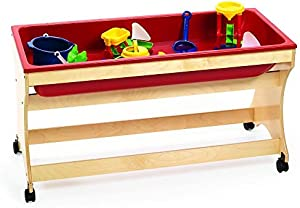 Angeles 45 in. Sand and Water Table in Red