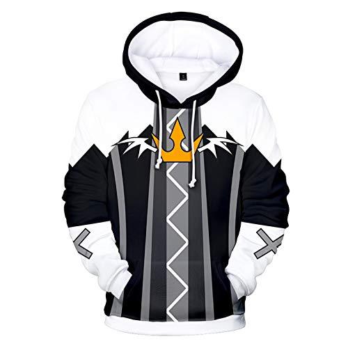 CYANDJ-Kingdom Hearts-Unisex, Maglione 3D, Giacca Cartone Animato, Abbigliamento per Bambini, Felpa con Cappuccio da Uomo, Felpa Casual da Coppia, Giacca A Maniche Lunghe-D/S