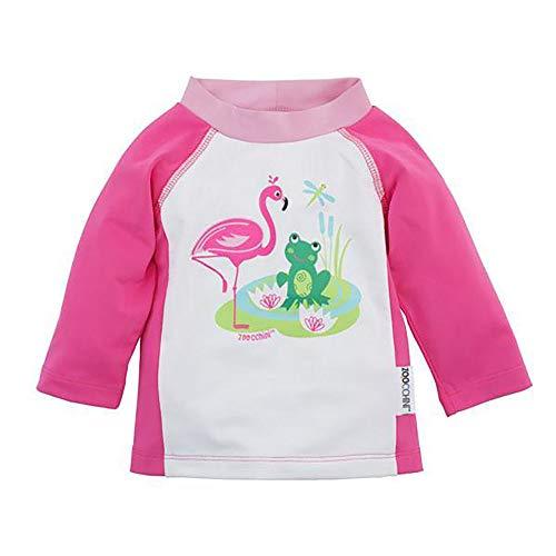 Zoocchini Unisex Baby Magliettina Proteggi Raggi Solari, Amici Lago Rashguard, Pink (Pond Pals Pond Pals), One Size (Herstellergröße: L 12-24M)