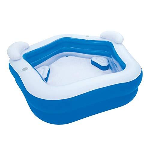 DFSDG Piscina inflable 2.13mx2.07mx69cm centro de natación piscina familiar con asiento de verano fiesta suministro para niños adultos
