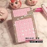 MZXUN 6,3 x 9,5 x 3,2 cm, 20 cigarrillos, hecho a mano, con diamantes intermitentes, automáticos, caja de cigarrillos de metal para mujeres (color : G)