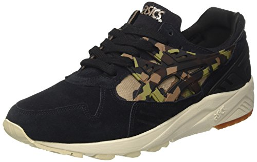 ASICS Unisex-Erwachsene Gel-Kayano Trainer Sneaker, Schwarz (Black/Martini Olive), 42 EU