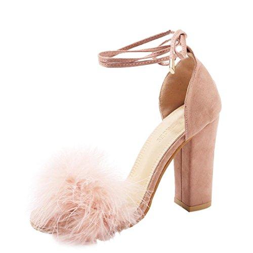 Covermason Zapatos Sandalias mujer verano 2018, fiesta de tacón alto para mujeres Boca de pescado