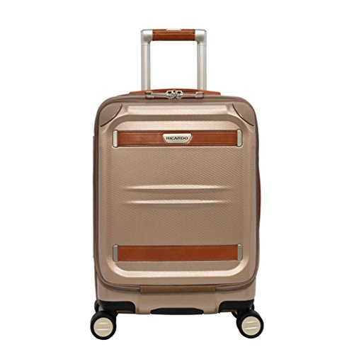 Price comparison product image Ricardo Beverly Hills Ocean Drive Mobile Office Spinner Carry-On Luggage,  Sandstone,  19-Inch