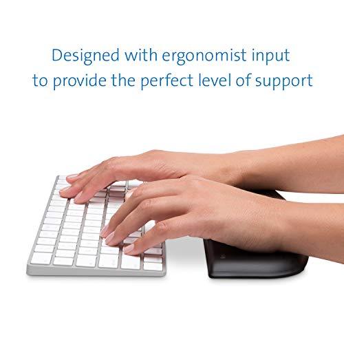 Kensington reposamuñecas ergosoft para Teclado Compacto - ergonomía certificada, Forma con contornos, diseño Profesional y Funcional, para macbook, iMac, Surface y pc; Negro.