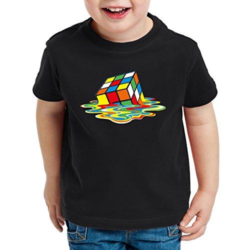 style3 Sheldon Cubo Mágico Camiseta para Niños T-Shirt, Talla:128
