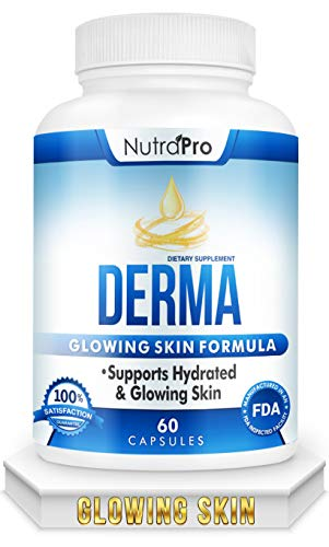 Dermal Repair Complex for Hydrated, Glowing Skin –Skin Vitamins with Phytoceramides & Alpha Lipoic Acid. Fast Results Hydration Pills Enhances Smoothness & Reduces Wrinkles. 60 Liquid Capsules