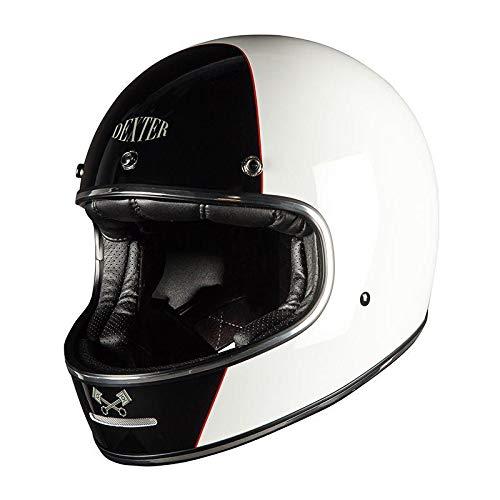 Dexter - Casco integral para motocicleta, casco para ciclomotores Marty, unisex, Chopper/Cruiser, para todo el año