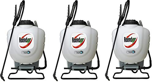 Roundup 190327 No Leak Pump Backpack Sprayer for Herbicides, Weed Killers, and Insecticides (Тhrее Pаck)