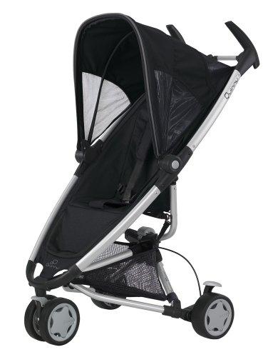 Quinny 65605020 - Zapp, praktisches Travelsystem inklusive Einkaufskorb, Sonnenverdeck, Regenverdeck und Adapter für die Babyschale, Rocking Black