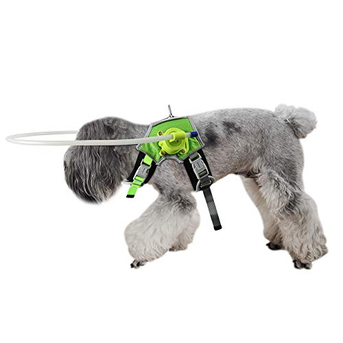 通用 Blind Dog Halo Harness, Fluorescent Dog Halo Collar and Protective Vest Ring for Visually Impaired Pets to Avoid Injury, Pet Anti-Collision Ring(XXS)