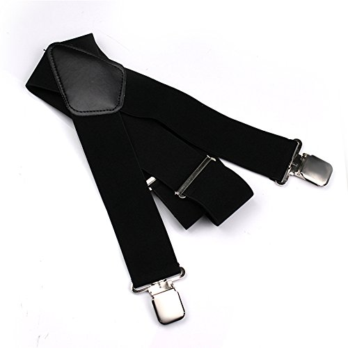 Sinbury® Bretelles de pantalon de moto pour homme réglables élastiquées Forme en X...