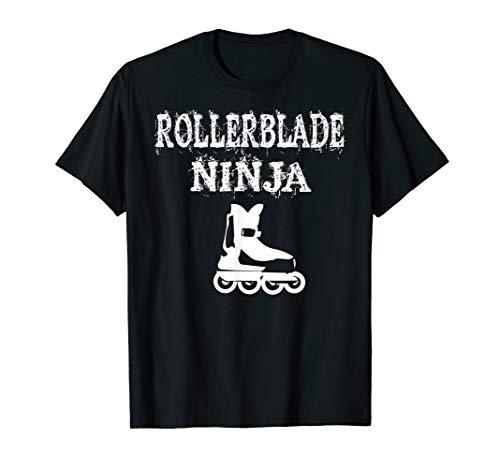 Roller Blades Ninja T Shirt Pun Funny Inline Skates Gift