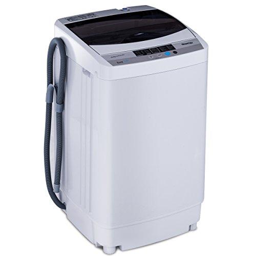 COSTWAY Waschmaschine Toplader, Mini Waschmaschine mit Schleuder / 4,5kg / 250W-310W / 50×50×85cm