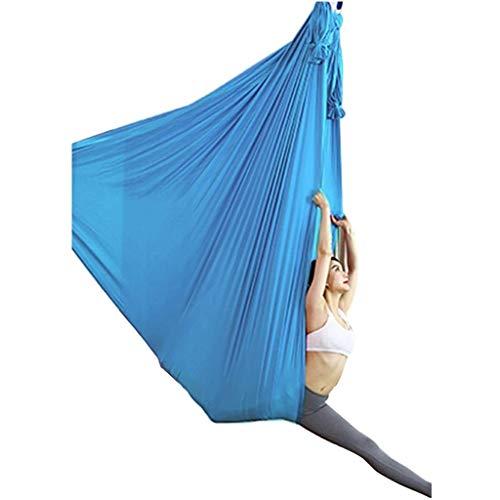 Hamaca de Yoga de 4 m de Largo de 2,8 m de Ancho Tela de Seda de la Hamaca de Swing con la Cadena de Margarita de Carabiner para el Yoga Pilates Anti-Gravity (Color : Purple)