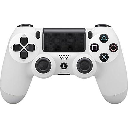 Sony - Dualshock 4 V2 Mando Inalámbrico, Color Blanco (Glacier White) PS4 - Edición Exclusiva Amazon