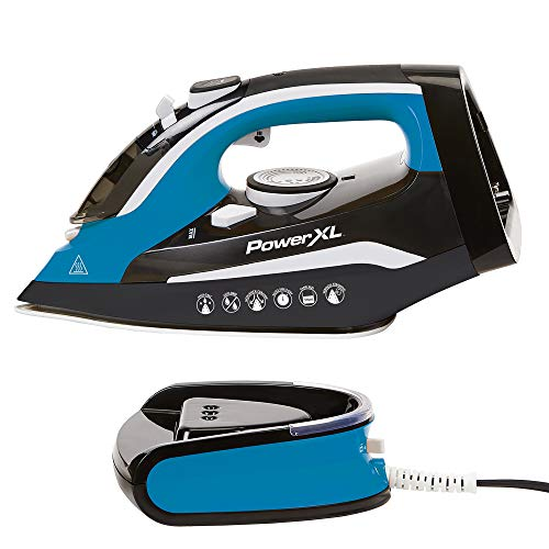 Find Discount PowerXL Cordless Iron and Steamer, Lightweight Iron with Ceramic Soleplate, Vertical S...