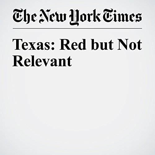 Texas: Red but Not Relevant audiobook cover art
