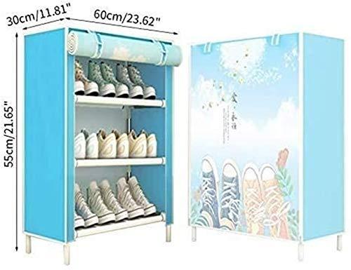 QZMX Estante de Zapatos Zapatero Zapatero Resistente al Polvo, Multi Capa Estante de Zapatos for Uso doméstico Ahorra Espacio en el Armario Inicio Estante (Color : New 1)