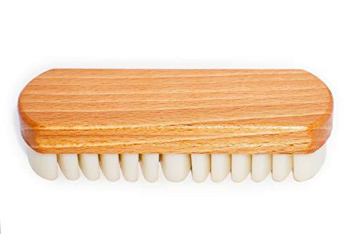 TIMELEOS Wildlederbürste mit Kreppauflage ideal für Nubuk, Velours, Wildleder & Rauleder | Nubuklederbürste, Lederpflege, Raulederbürste, Kreppbürste, Nubukbürste, Schuh,Taschen, Polster