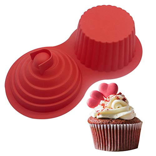 Große Cupcake Backform - WENTS Extra XXL Muffinform Giant Cupcakes Silikon Form für Torten, Muffins und Deko