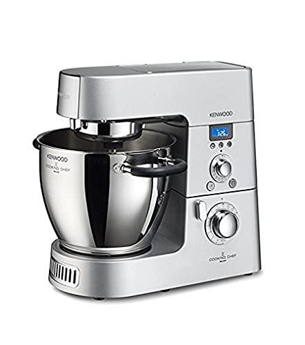 Kenwood Cooking Chef KM096 Küchenmaschine (1500 Watt, Induktion 20-140°C, 6,7 L Füllmenge, 1,6 L ThermoResist Glas-Mixaufsatz, 1,2 L Multi-Zerkleinerer)