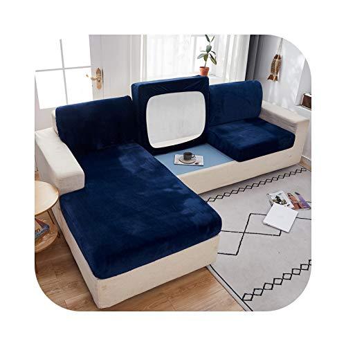 Sofabezug, Velours, für Wohnzimmer, elastisches Kissen, Slipcover, Liegestuhl, Dark Blue-Norma XL-1 Stück.