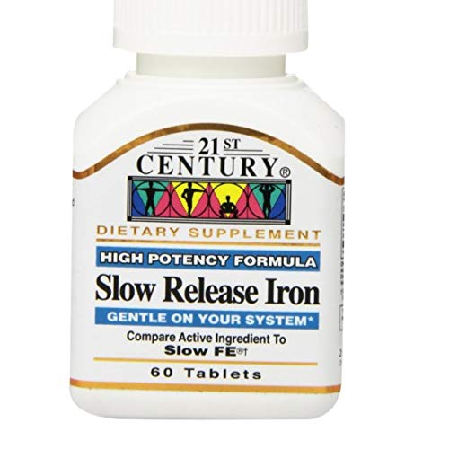 21st Century Slow Release Iron Tablets 60 ea (Pack of 3) - Packaging May Vary