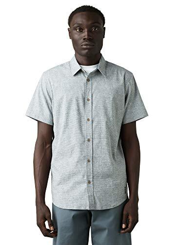 prAna Men's Grixson Shirt, Nickel, Small -  M11202530-NICK-S