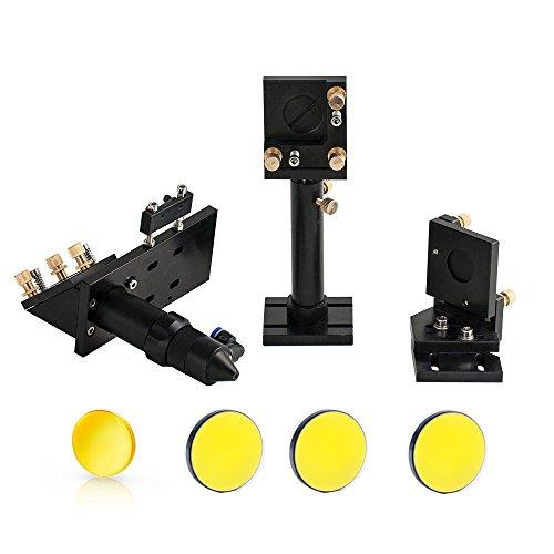 Cloudray Laserkopf-Set + 3 Stück SI Spiegel D25 mm + 1 Stück USA CVD Focus Objektiv D20 mm FL50.8mm 63.5mm 101.6mm (FL 50.8')