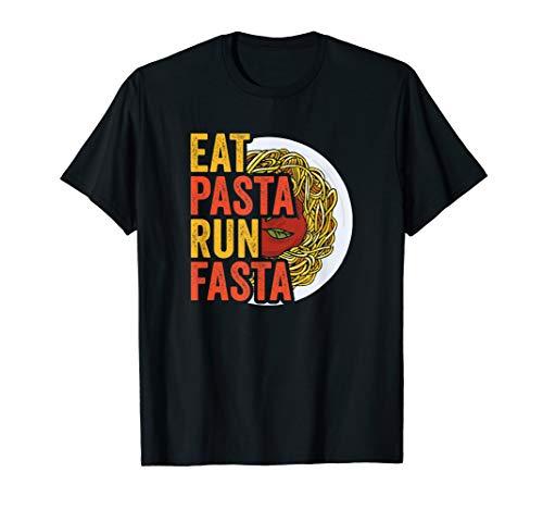 Eat Pasta run Fasta Spaghetti Gnocchi | Italian style Pasta T-Shirt