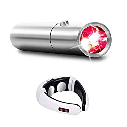 Red Light Therapy Device Advanced Medical Grade Technology,Joint and Muscle Pain Relief,Skin Treatment Plus Neck and Shoulder Massager, 2 Devices in ONE Product