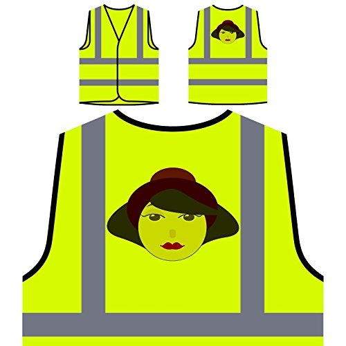Señora De La Moda Mujer París Chaqueta de seguridad amarillo personalizado de alta visibilidad o602v