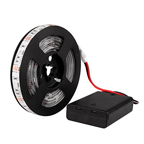 Bande lumière RGB SMD 5050 bande LED lumière lampe String étanche avec Control Box 2 m fiche