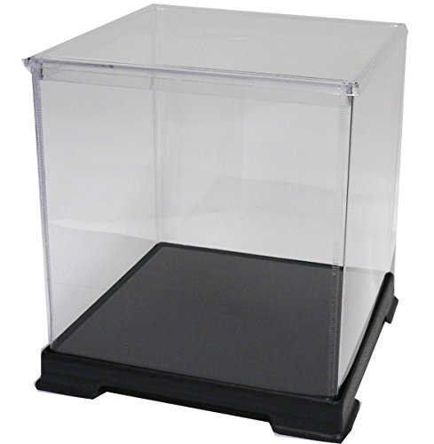 かしばこ商店 透明フィギュアケース 323240 プラスチック 組立式 W320×D320×400mm ディスプレイケース