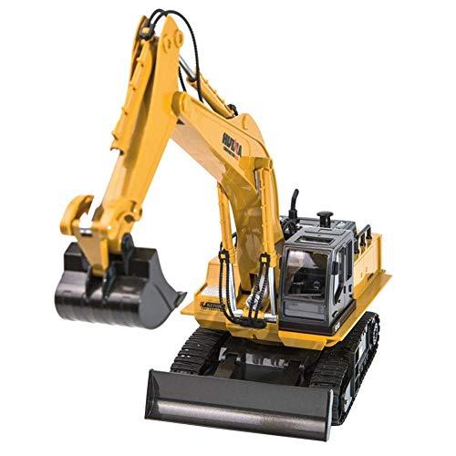 ZCYXQR Fernbedienung Bagger Traktor Simulation Konstruktion Kinderspielzeug 1:16 RC Truck 11CH Fernbedienung Auto für Kinder Geschenke Spiel A