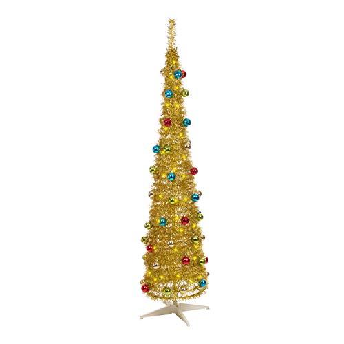 The Christmas Workshop 882106ft verziert Slim Line Pop-Up-Weihnachtsbaum, Gold