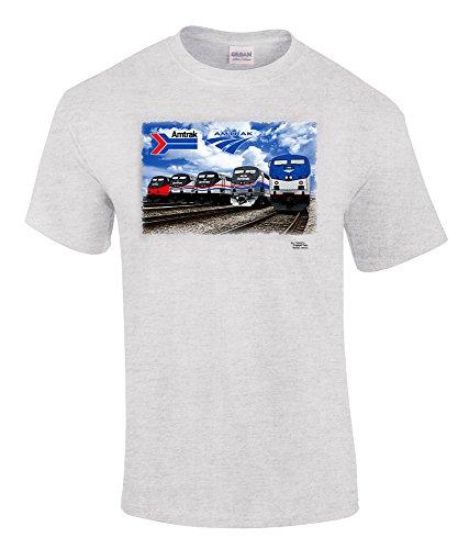 Daylight Sales Amtrak Heritage Authentic Railroad T-Shirt (Adult, Large)