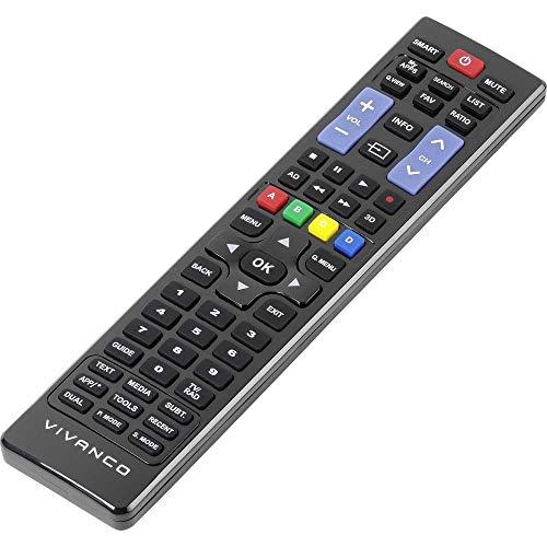 Vivanco RR 220 Infrarot-Fernbedienung, kabellos, TV, drücken Sie die Tasten – Fernbedienungen (TV, IR kabellos, drücken Sie die Tasten, schwarz)