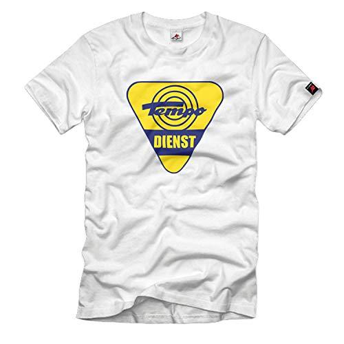 Tempo Dreirad Dienst Schild Hanseat Matador Oldtimer T-Shirt#33183, Größe:XL, Farbe:Weiß