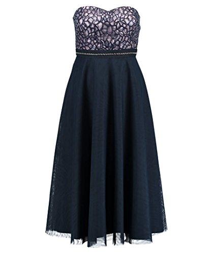 Vera Mont VM Damen 2504/3742 Party - und Abendkleider, Blau (Night 8541), 34